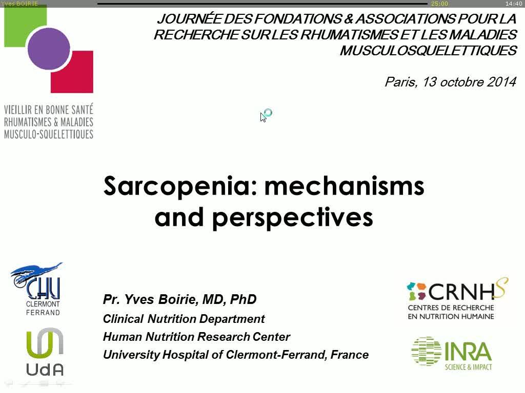 Sarcopénie: mécanismes et perspectives