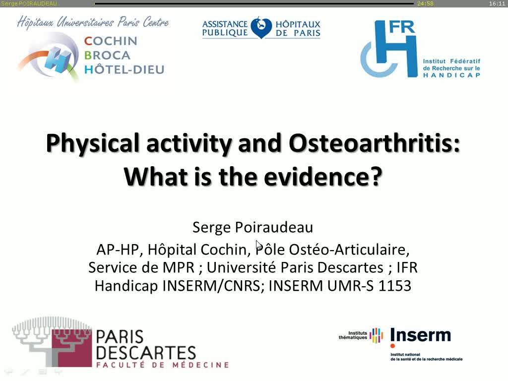 Activité physique et arthrose : quelles preuves d'efficacité ?