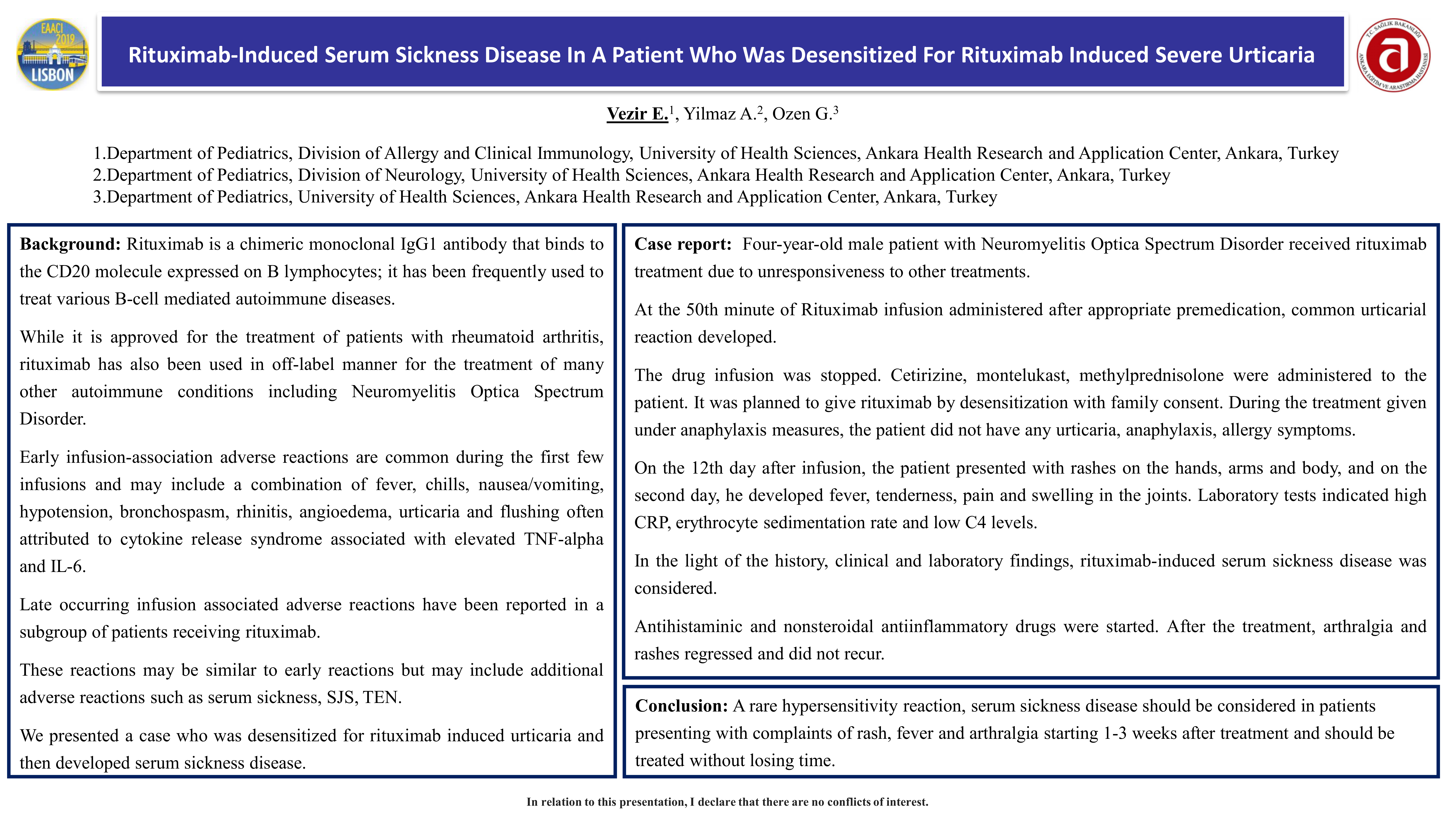 TP1430 - Rituximab-induced serum sickness disease in a